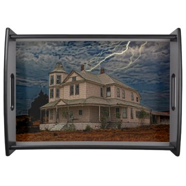 Halloween Themed HAUNTED HOUSE SERVING TRAY