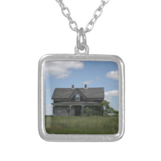 Haunted House Silver Plated Necklace