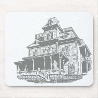 Haunted House Sketch Mouse Pad