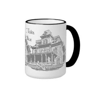 Haunted House Sketch Coffee Mug