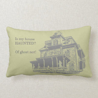 Haunted House Sketch Throw Pillow