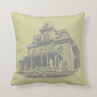 Haunted House Sketch Throw Pillows