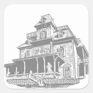 Haunted House Sketch Sticker
