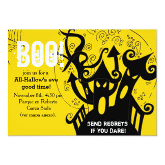 Haunted house spooky halloween Party 5x7 Paper Invitation Card