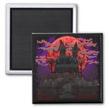 Halloween Themed Haunted House Spooky magnet