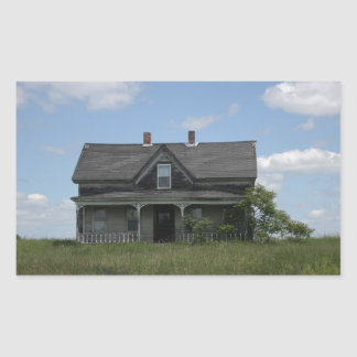 Haunted House Rectangular Sticker