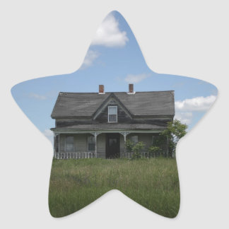 Haunted House Star Sticker
