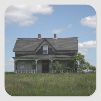 Haunted House Square Sticker