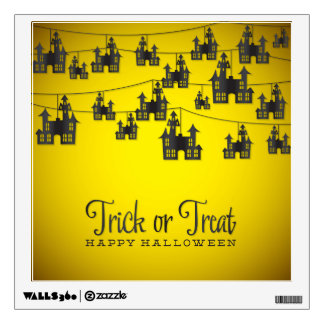 Haunted house string wall sticker