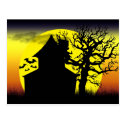 Haunted House Sunset Postcard (<em>$1.10</em>)