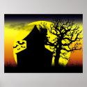 Haunted House Sunset Poster Print (<em>$24.85</em>)