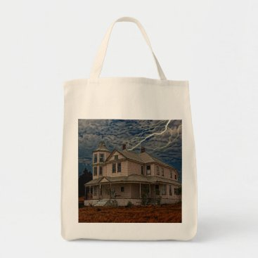 Halloween Themed HAUNTED HOUSE TOTE BAG