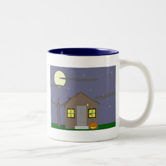 Haunted House Two-Tone Coffee Mug