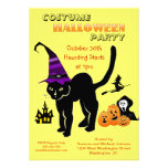Haunted House Witch Ghost Halloween Costume Party Invites
