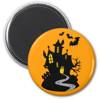 Haunted House with Bats Magnet