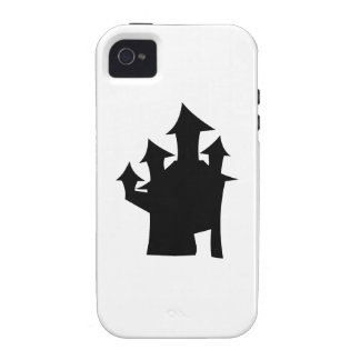 Haunted House with Four Towers. Black and White. iPhone 4 Case