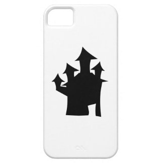 Haunted House with Four Towers. Black and White. iPhone 5 Cases