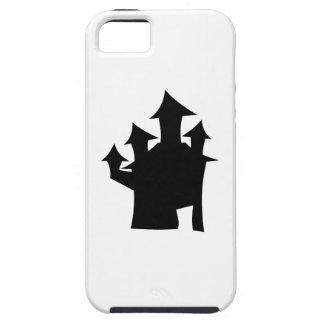 Haunted House with Four Towers. Black and White. iPhone 5 Cover