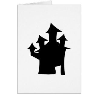 Haunted House with Four Towers. Card