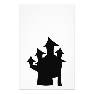"""Haunted House with Four Towers. 5.5"""" X 8.5"""" Flyer"""