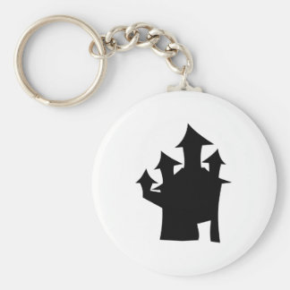 Haunted House with Four Towers. Keychain