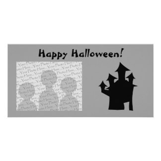 Haunted House with Four Towers. Photo Card