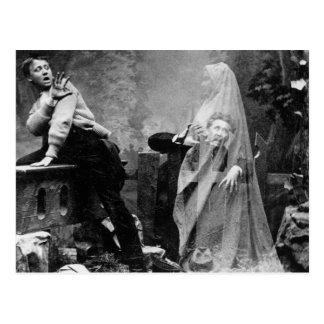 Haunted Lane - Vintage Ghost Photo 1880 Postcard