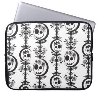 Haunted Laptop Sleeve - Black & White