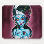 """Haunted Mansion Girl Mouse Pad<br><div class=""""desc"""">This is Micheline&#39;s original Haunted Mansion girl artwork. Be the first girl to own her art on a mousepad for your creepy and stylish home o office.</div>"""
