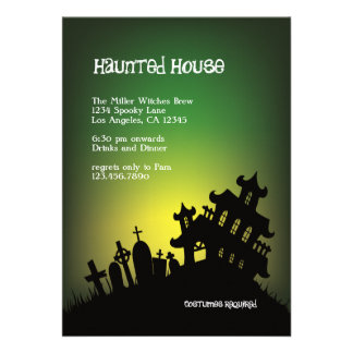 Haunted Mansion Halloween Party Invitation