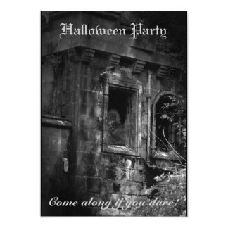 "Haunted Mansion Horror Halloween Party Invitation 5"" X 7"" Invitation Card"