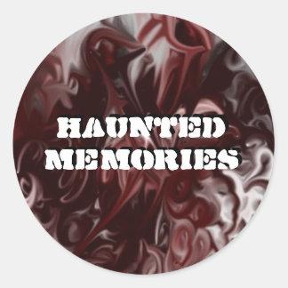 haunted memories classic round sticker