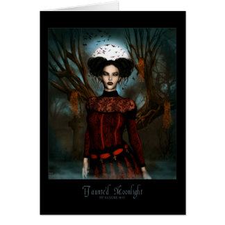Haunted Moonlight Greeting Card