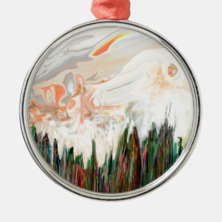 """Haunted Mountains"" Premium Round Ornament"