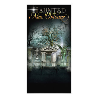 Haunted New Orleans Ghost Cemetery Card