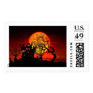 HAUNTED NIGHT, HAUNTED HOUSE! (Halloween) ~ Stamp
