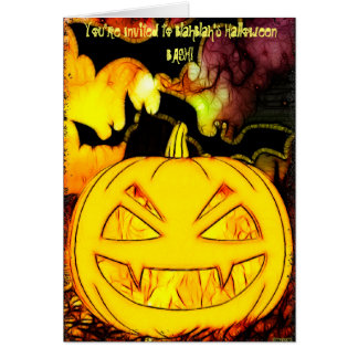 Haunted Nights Halloween Art Party or Office Card