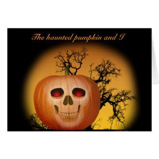 Haunted Pumpkin Greeting Caard Card