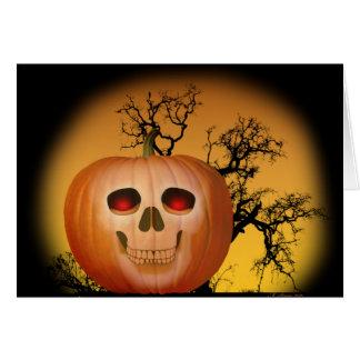 Haunted Pumpkin Notecard