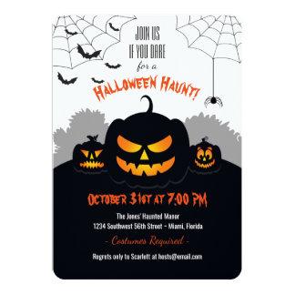 Haunted Pumpkin Patch Card