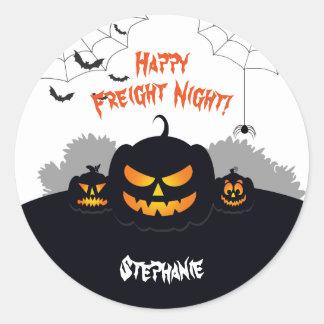 Haunted Pumpkin Patch Classic Round Sticker