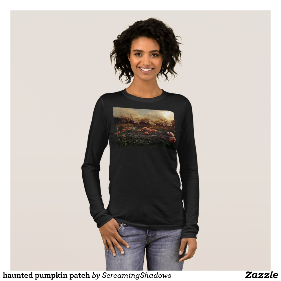haunted pumpkin patch long sleeve T-Shirt - Best Selling Long-Sleeve Street Fashion Shirt Designs