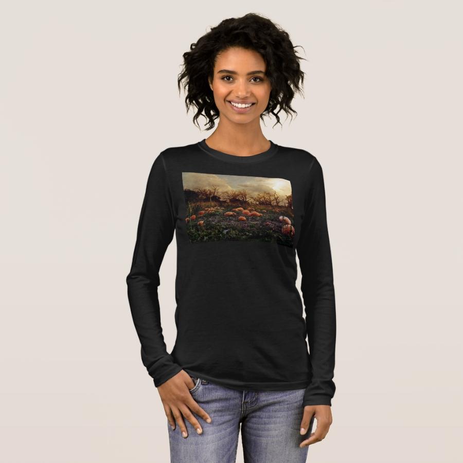 haunted pumpkin patch long sleeve T-Shirt - Best Selling Long-Sleeve Street Fashion Shirt Designs