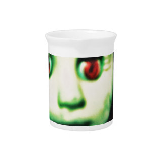 haunted red eyed doll products beverage pitchers