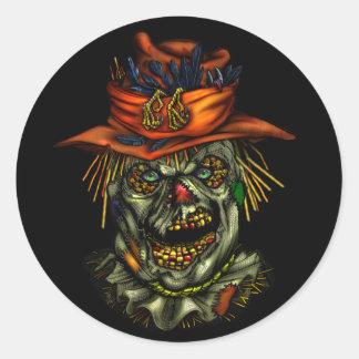 Haunted scarecrowcrow Sticker