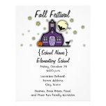 "Haunted Schoolhouse School Halloween Fall Festival 8.5"" X 11"" Flyer"