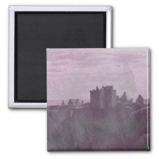 Haunted Scottish Castle 2 Inch Square Magnet