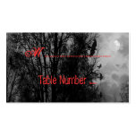 Haunted Sky Black White Red Custom Place Cards Business Card Templates