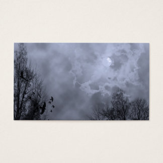 Haunted Sky Blue Mist Business Card Template