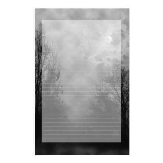 Haunted Sky Note Paper Lined Stationery